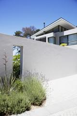 Wall outside modern house