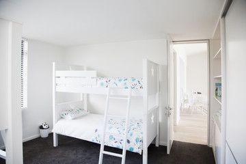 Bunk beds in childrenís bedroom