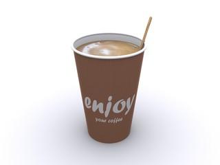 Einzelner Kaffeebecher