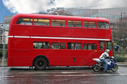 Fotobehang Londen rode bus London bus