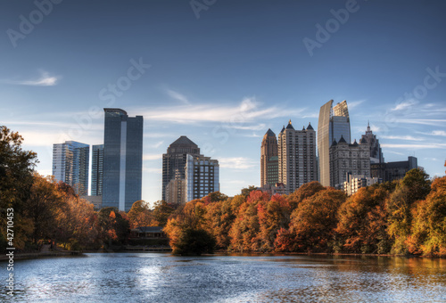 Atlanta From Piedmont Park