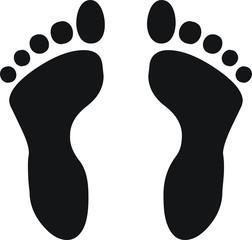 pictogramme empreinte de pied