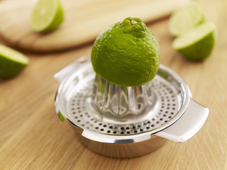 Lime on juicer