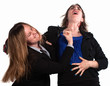 Businesswoman Fighting Each Other