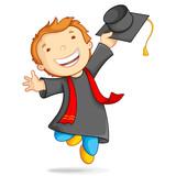 Boy in Graduation Gown