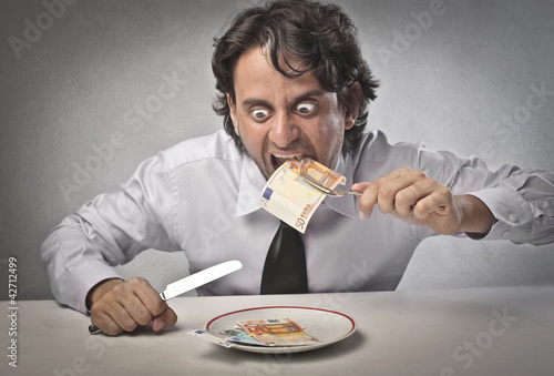 Greedy businessman