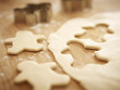 Gingerbread men cookie dough