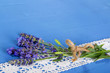 Lavendel als Glückwunschkarte