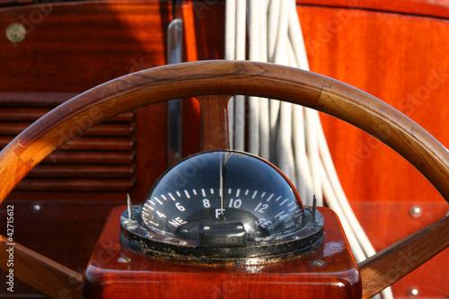 Das Ruder auf einer Segelyacht, Typ Vindö 50, - 42715612