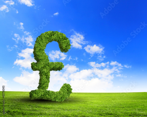 Green grass  UK pound symbol