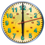 6 tropical clock