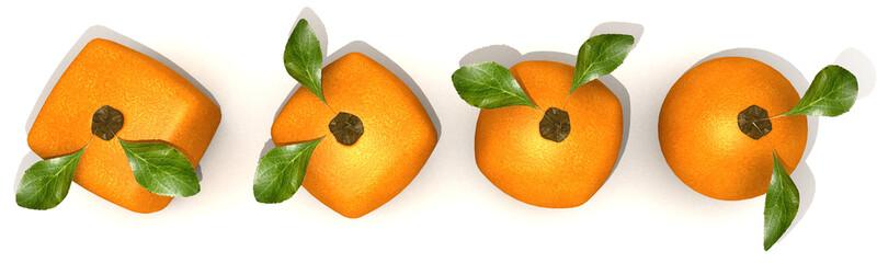 Orange evolution aerial view