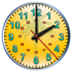 2 tropical clock