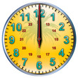 12 tropical clock