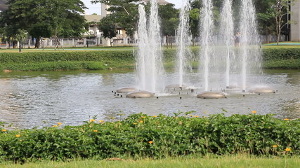 Fountain in Park ,Thailand
