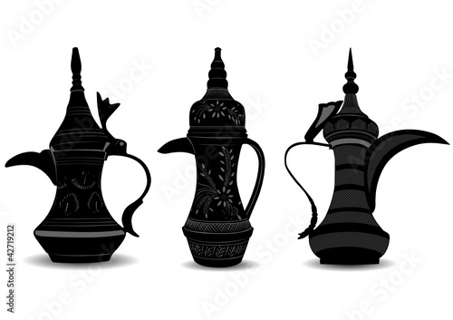 Arabic Coffee Pot - Dallah - Vector Illustration
