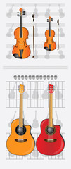 violin and guitar