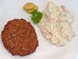 Frikadelle mit Kartoffelsalat