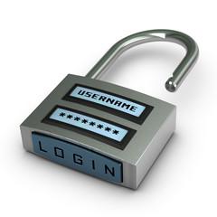 sécurité internet et informatique. Datas protection
