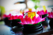 Buddhist Lily Flower Oil Lamp