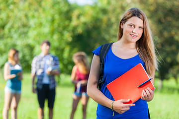 Young Female Student at Park