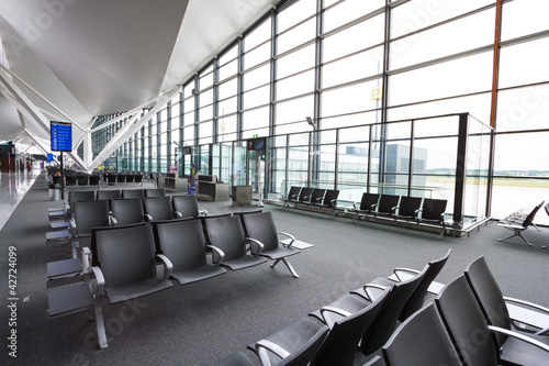 New modern terminal at Lech Walesa Airport in Gdansk