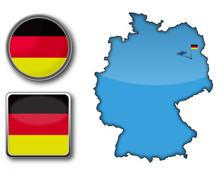 Flag and Map of Germany