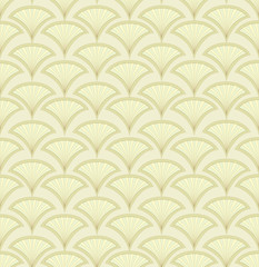 seamless pattern with fans, floral theme, Print