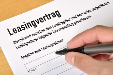 Leasingvertrag