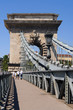 The famous Chain Bridge across the Danube in Budapest