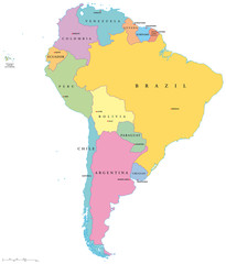 South America, Single States (Südamerika Einzelstaaten)