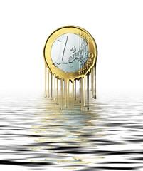 Illustration schmelzender Euro