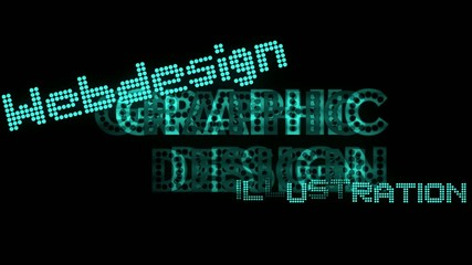 Graphic Design - tag cloud - multimedia / Neon lights
