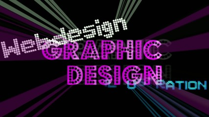 Graphic Design - tag cloud - multimedia / Beams
