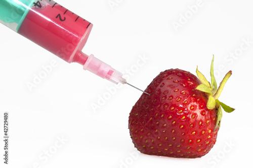 Erdbeere mit Pestiziden/ gespritzt