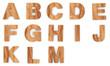 3d Font Wood A - M