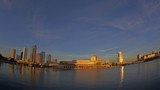 Fisheye Sunset Timelapse of Tampa Skyline