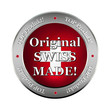 original swiss made metallic  button