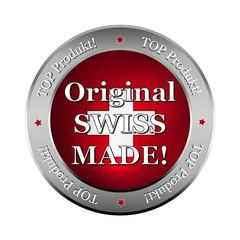 original swiss made metallic  button