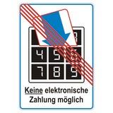 Keine elektronische Zahlung möglich ~ no electro cash poster