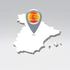 Spain geo location background