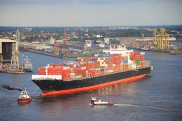 Containerschiff, Hamburger Hafen, Export, Import, Hamburg