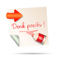 post it - denk positiv
