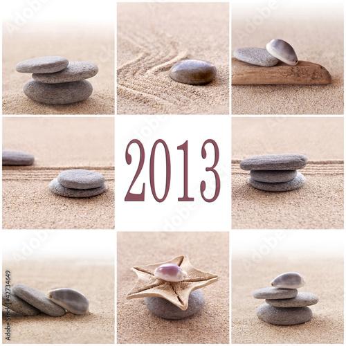 2013, collage carré zen