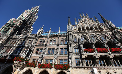 New Town Hall (Neues Rathaus) in Munich, Germany