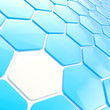 Abstract hexagon shape background