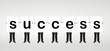 """success"" word on board"