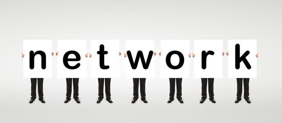 """network"" word on board"