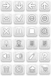 Set of icons. Square pictograms of white color.