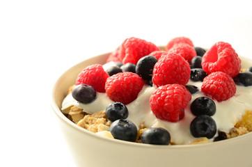 Muesli, yogurt and berries